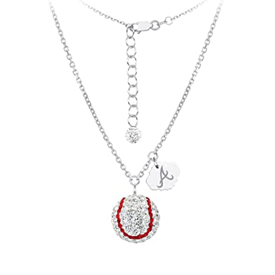 12f3da066ae Diamond DiamondJewelryNY Silver Pendant, Mlb Atlanta Braves Baseball Neck:  Amazon.co.uk: Jewellery