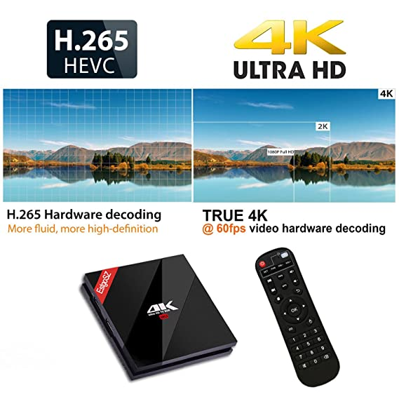 estgosz 7.1 Android TV Box Amlogic S912 8-Core 3 GB RAM + 32GB ROM 64bits Smart TV Box 4 K Dual Band WiFi 2.4 GHz/5.0ghz LAN 1000 M Bluetooth 4.1 con Mini ...