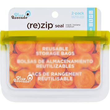 Amazon.com: Blue Avocado Bag - Re-Zip - Snack - Green - 2 ...