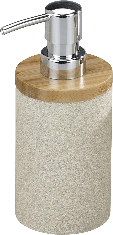 300ml Accessorio Bagno /& Cucina Portasapone Ricaricabile Beige 1 pz Poliresina Relaxdays Dispenser di Sapone Manuale