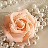 Ungfu Mall 50pcs 7,5cm, simulazione artificiale schiuma rosa bouquet palla festa di nozze decorazione casa Champagne