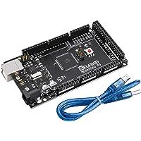 ELEGOO Carte Mega 2560 R3 ATMEGA 16U2 Micro Contrôleur Module Board avec Câble USB pour Board Noir