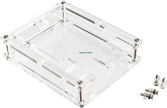 10PCS Uno R3 Case Enclosure Caja de acrílico transparente Clear ...