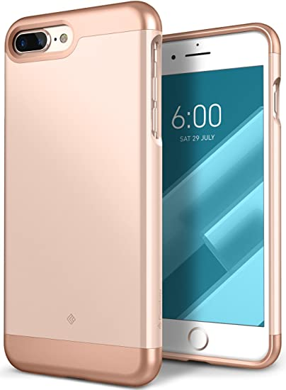 Caseology Savoy for iPhone 8 Plus Case (2017) / iPhone 7 Plus Case (2016) - Stylish Design - Gold