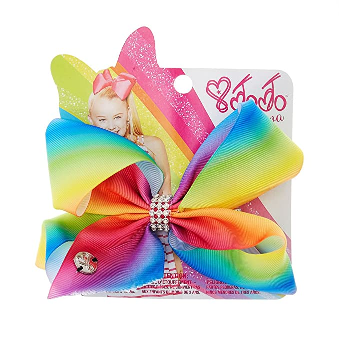 Hair Accessories Kids' Clothing, Shoes & Accs Rainbow Sequins Unicorn Holographic Jojo Hair Bow 8 Inch W Clip new Style
