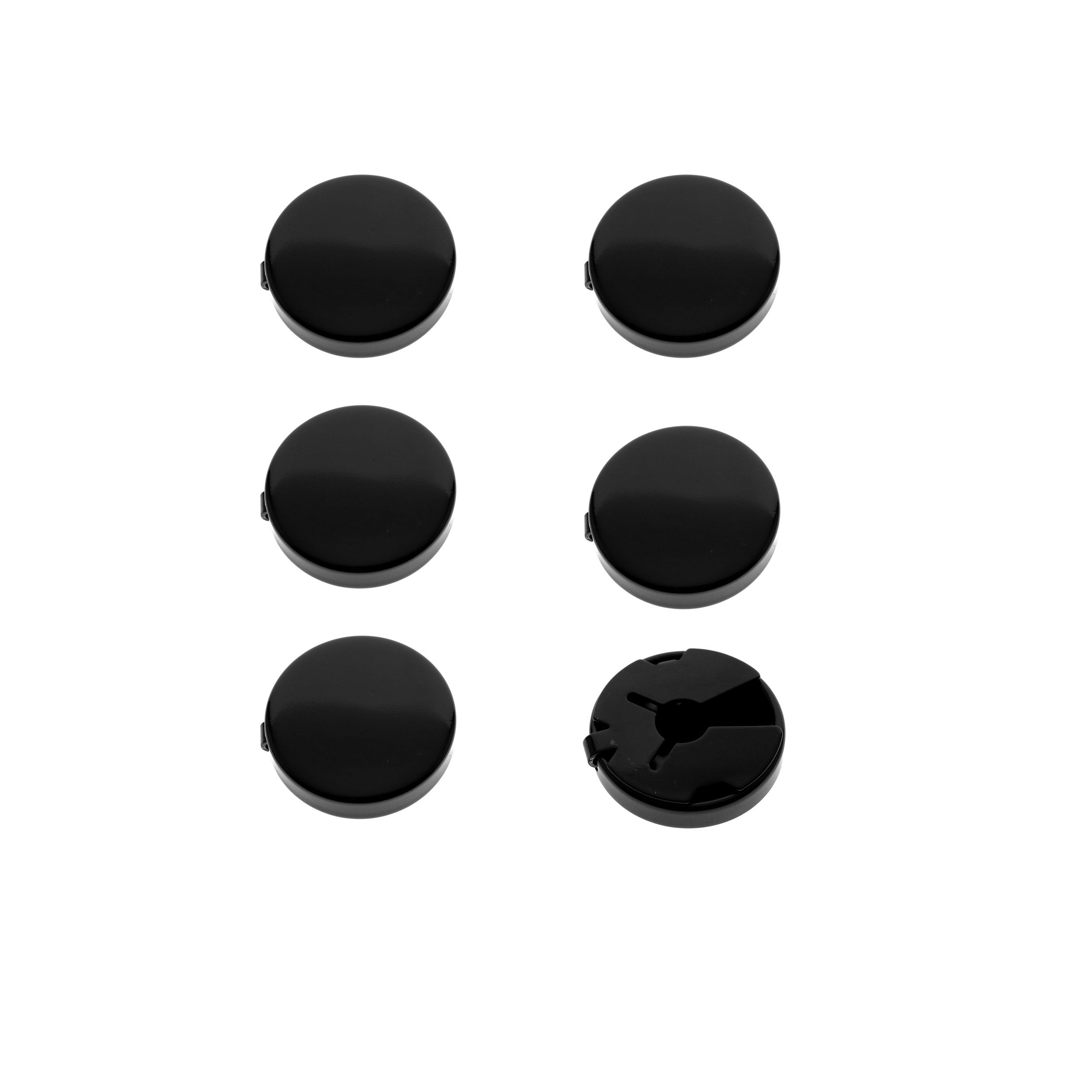 Ms.Iconic 17.5MM Gun Black Round Cuff Button Cover Cuff Links for Wedding Formal Shirt 6Pcs/set (17.5MM Black)
