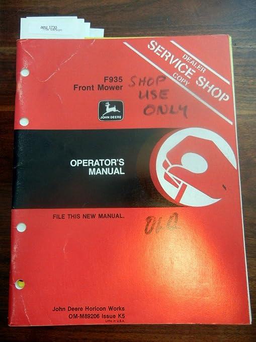 John Deere f935 frontal OEM para cortacésped manual de ...