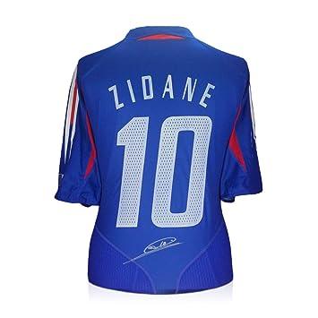 Zinedine Zidane Firmado camiseta de fútbol Francia 2004