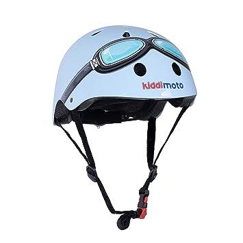 KIDDIMOTO Casco Bicicleta/Cascos para Infantil/Bici Casco para Patinete, Ciclismo Montaña, BMX, Carretera Skate, Patines, Monopatines - Gafas Azules