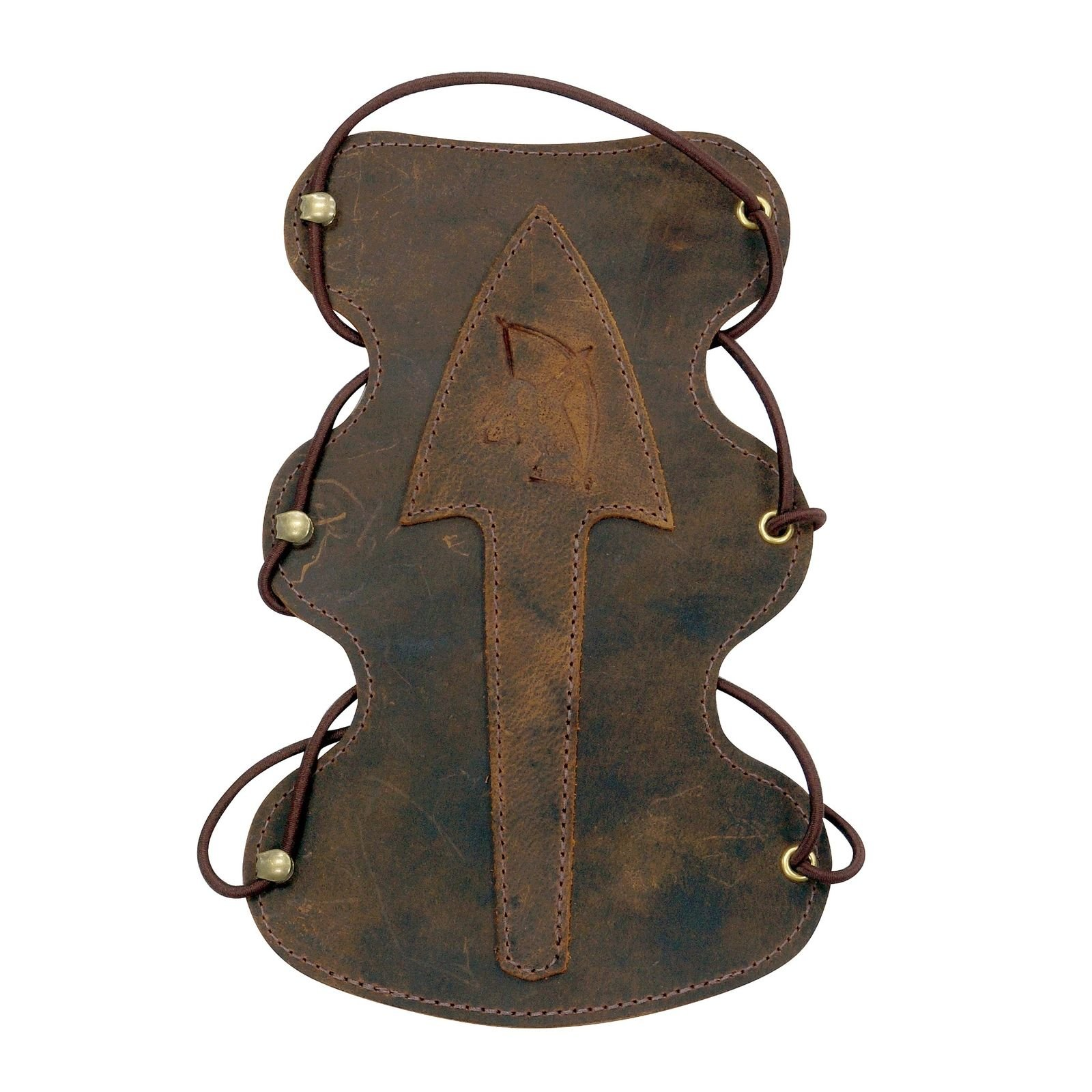 Serious Archery Arrowhead Long Armguard Brown Leather
