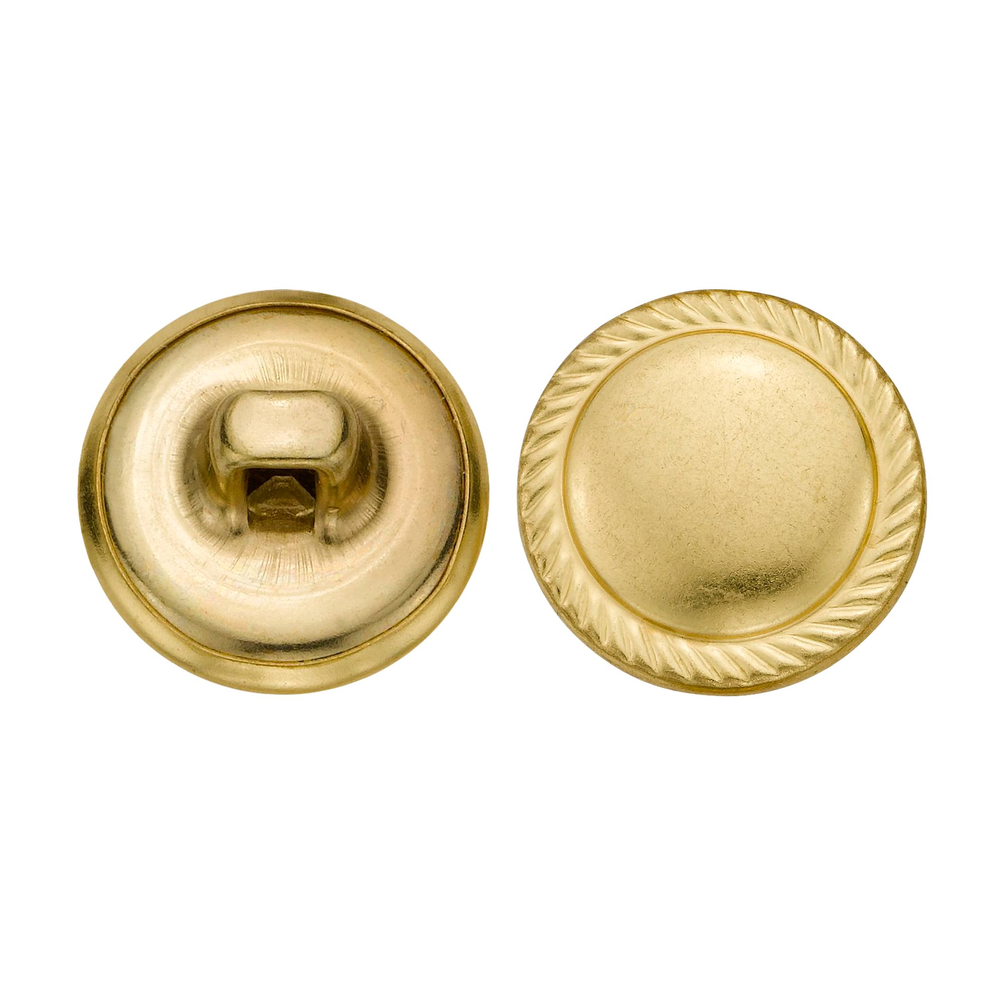 C&C Metal Products 5351 Rope Edge Dome Metal Button, Size 24 Ligne, Gold, 72-Pack