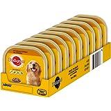 Pedigree Hundefutter 3 Sorten Geflügel, 10 Schalen (10 x 300 g)