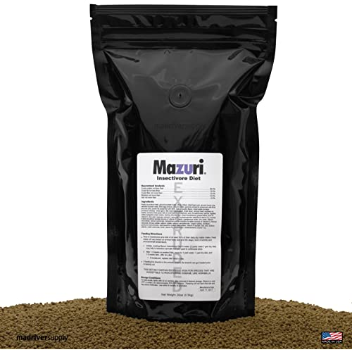 Mazuri Insectivore Diet, Designed For A Range Of Insect-Eating Mammals, Birds, Reptiles And Amphibians (Shrews, Hedgehogs, Sugar Gliders, Anteaters, Swifts, Swallows, Bearded Dragons & More, 20oz(0.5kg)
