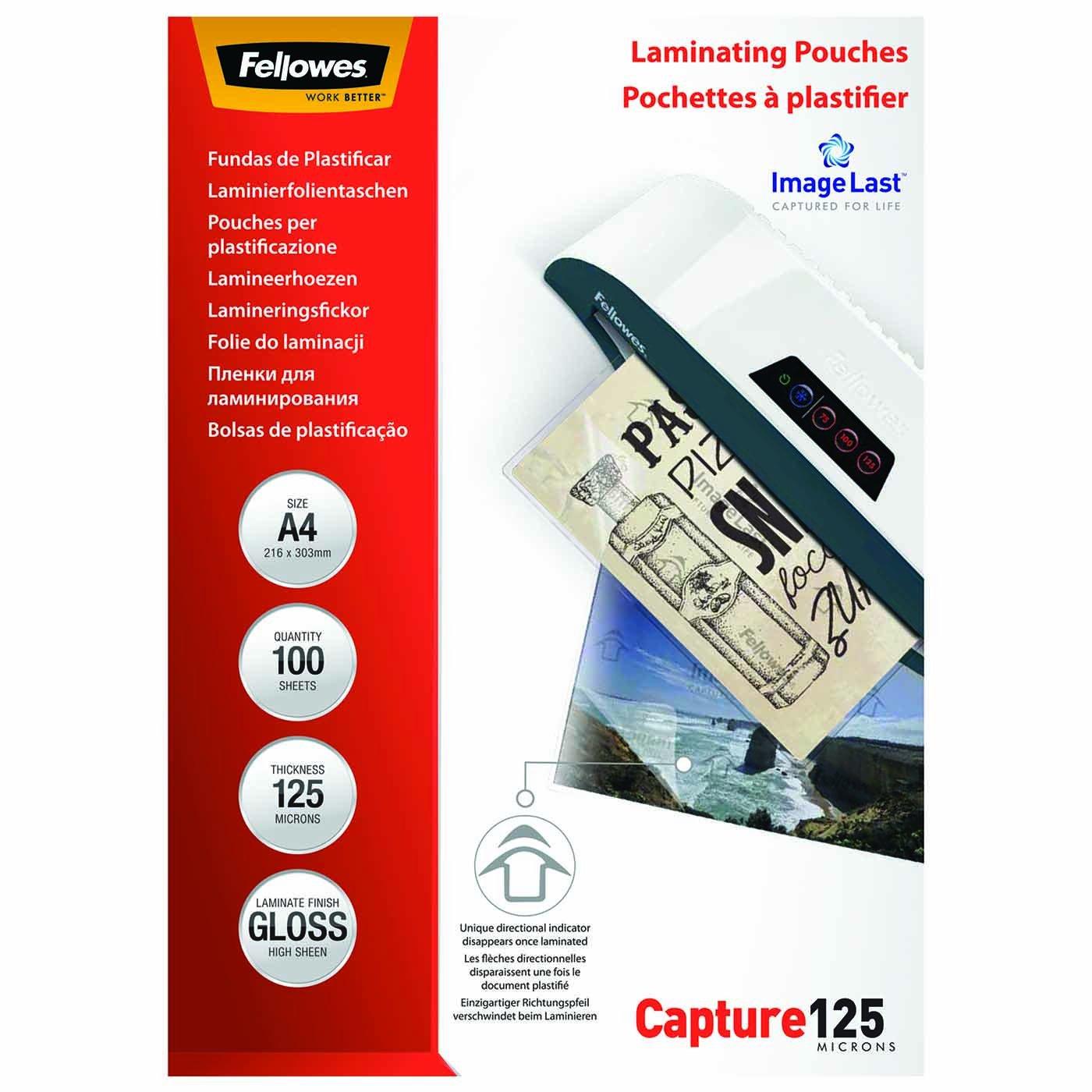 Fellowes 5396205 Pouches Lucide Enhance80, Formato A4, 80 Micron, Confezione da 25 Pezzi