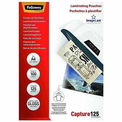 Amazon.com: PACK 100 FUNDAS PLASTIFICAR A4 125 MICRAS BRILLO ...
