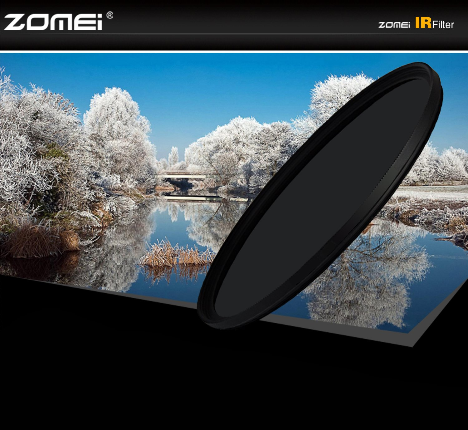 ZoMei 72MM IR 760 Glass Infrared X-Ray Filter