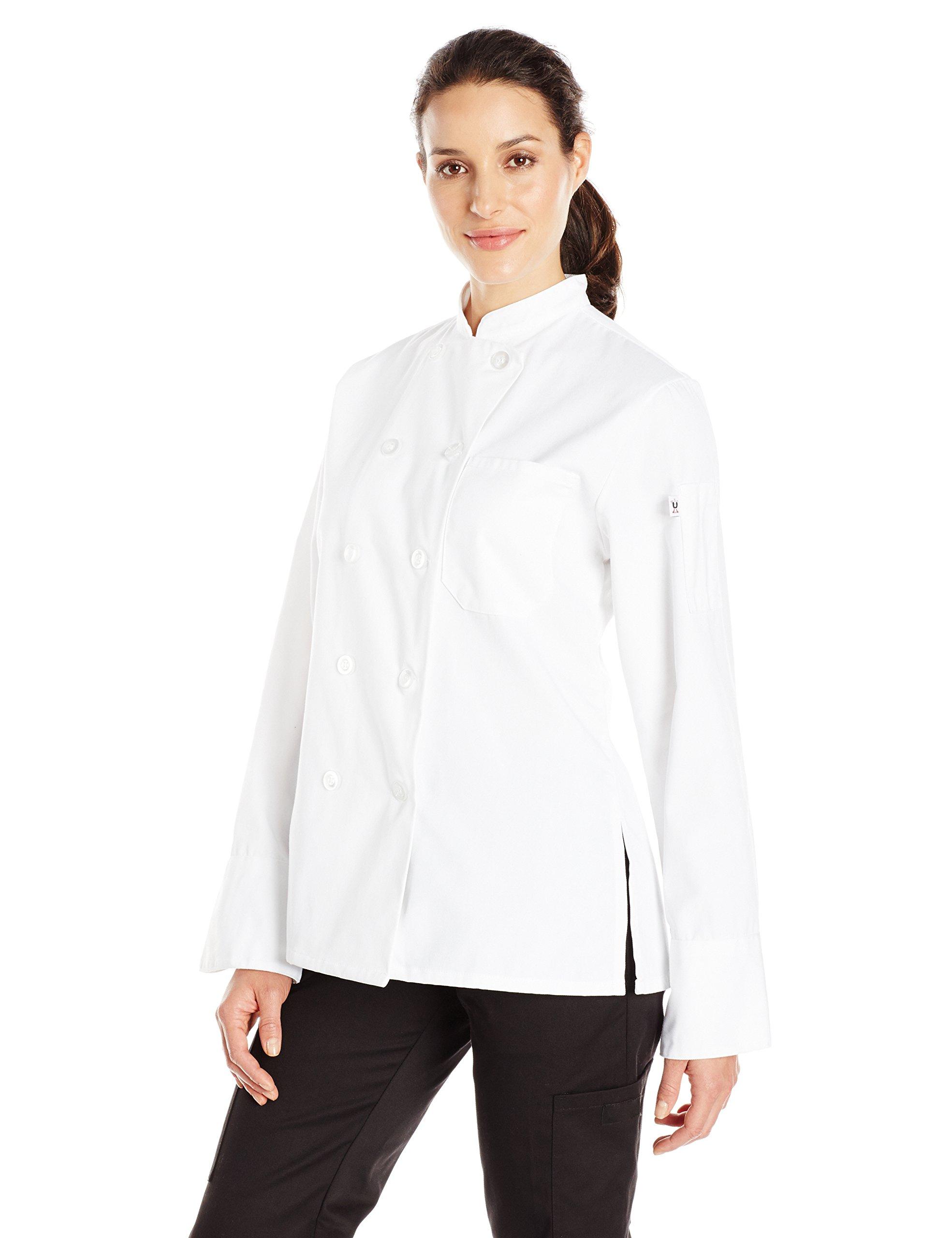 Uncommon Threads Women's Napa Fit Chef Coat, White, XX-Large