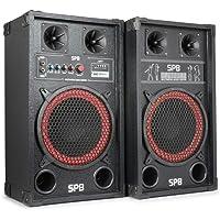 SPB-10 set d'enceintes • Puissance de 600 W max • Haut-parleur Basssreflex • Entrées USB et SD • Enceintes nomades • Lecture des formats MP3