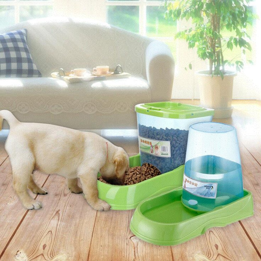 JIN Gravity Pet Feeder And Waterer Water Station Food Dispenser Bowl Gourmet Combo For Dog Cat Animal by WJL (Image #3)