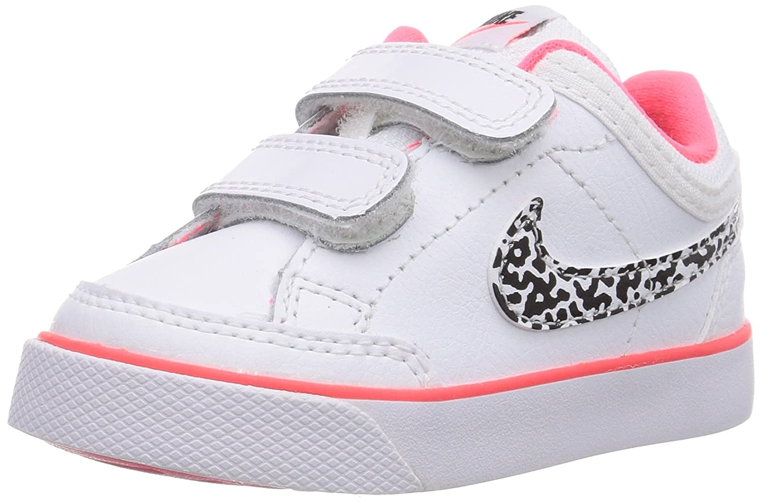 Nike Capri 3 Leather, Baby-Girls First Walking Shoes, White  (White/White/Black/Hyper Punch 103), 1.5 UK: Amazon.co.uk: Shoes & Bags