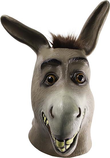 Cosplay Realistic Mask Adult Animal Latex Mask Donkey mask one size