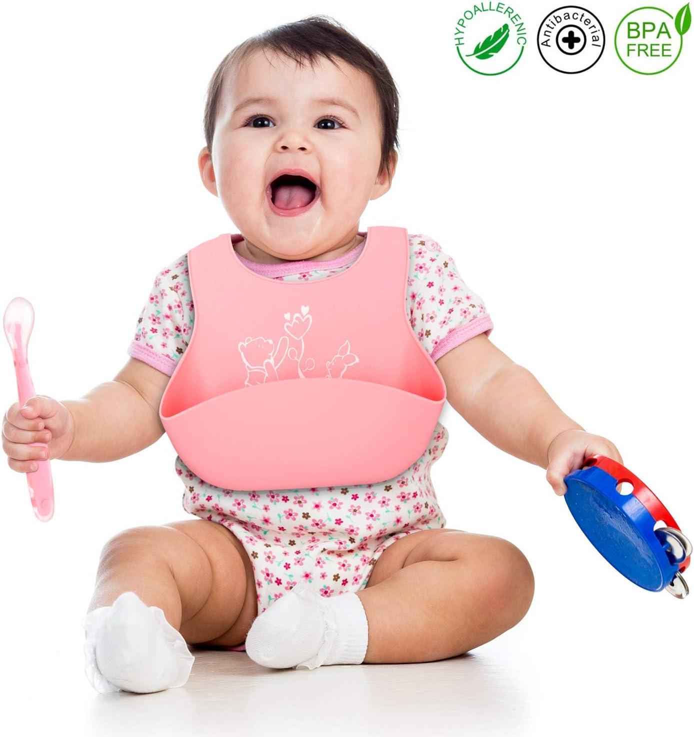 Bavoirs b/éb/é gar/çon sans BPA caoutchouc naturel fer//sable 6-18 mois