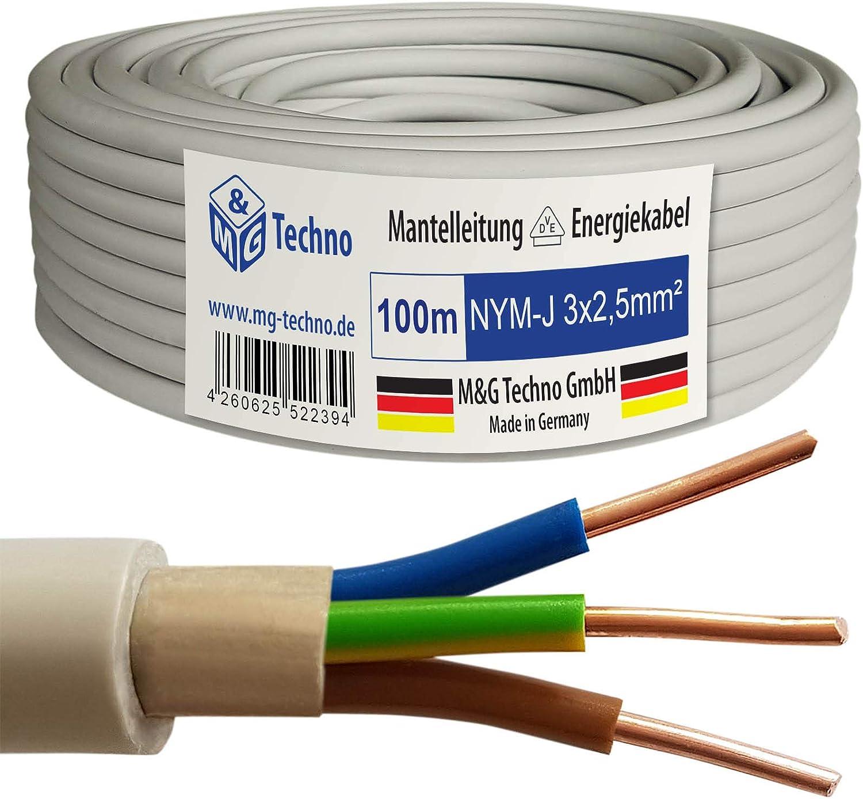 M G Techno 100m Nym J 3x2 5 Mm Mantelleitung Elektro Elektronik
