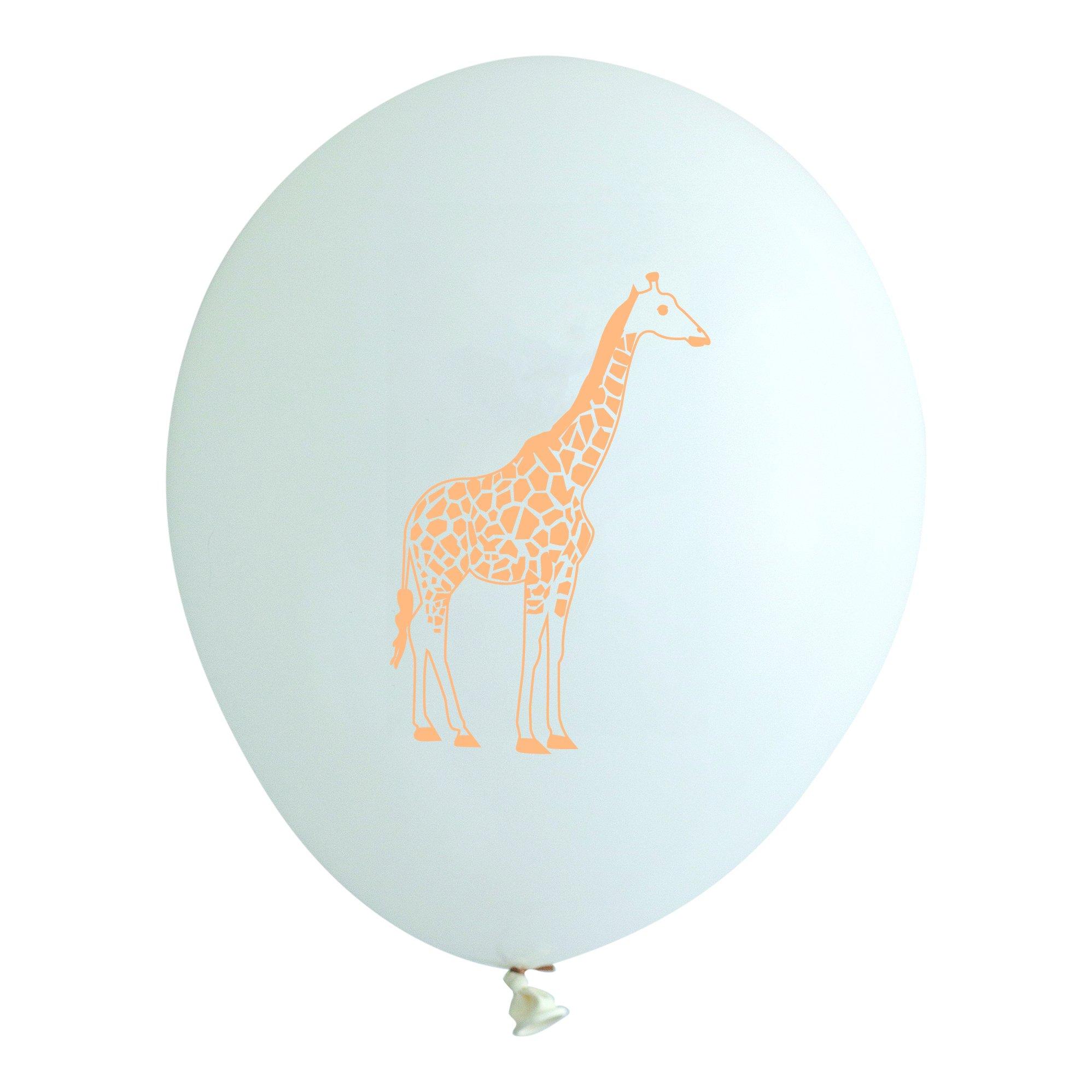 Giraffe Safari Latex Party Balloons, made in America by REVEL & Co
