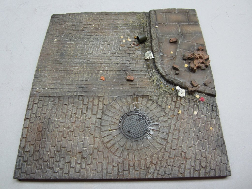 1/35 Scale Diorama Base No.4 - Dimensions 165mm x 155mm