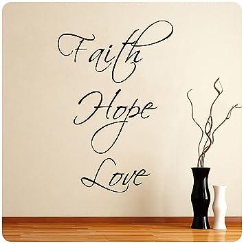 Faith Hope Love Wall Decal Decor Words Large Nice Sticker Part 67