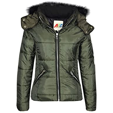 to buy top style in stock A2Z 4 Kids® Girls Jacket Kids Olive Stylish Cropped Padded ...