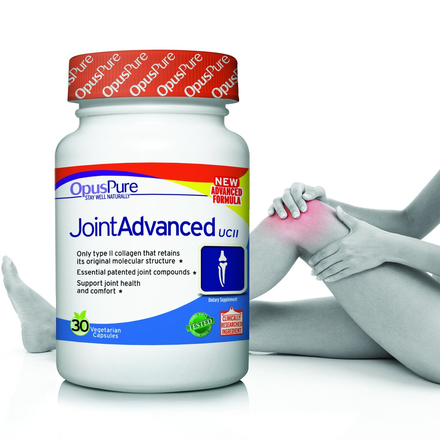 Opus Pure UC-II Collagen Glucosamine Turmeric Boswellia Hyaluronic Acid Best Joint Pain Relief Supplement with French Pine Bark