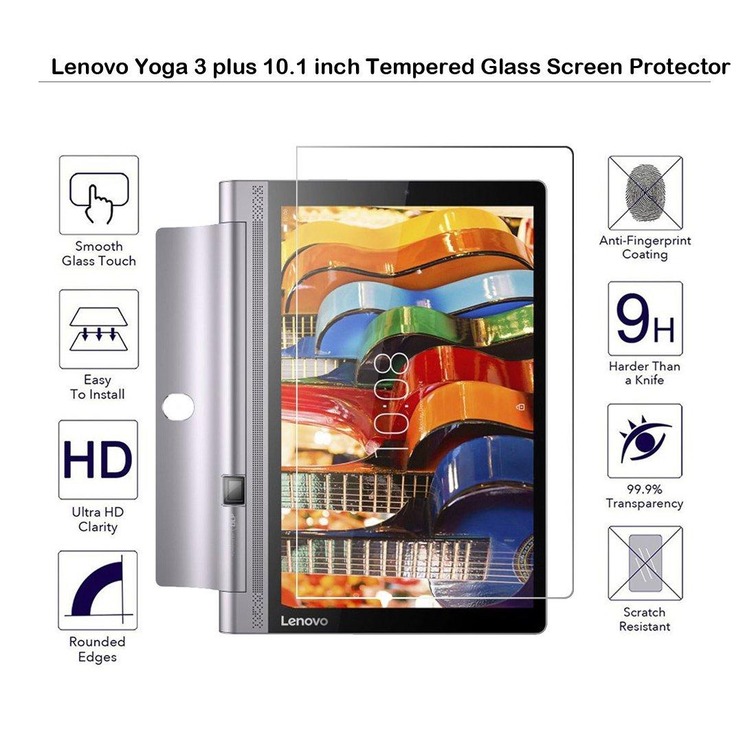 Lenovo Yoga 3 Plus 10.1 Pulgadas Protector De Pantalla De Cristal Templado – Fiimi Protector de Pantalla para Lenovo Yoga 3 Plus 10.1 Inch, 9 h ...