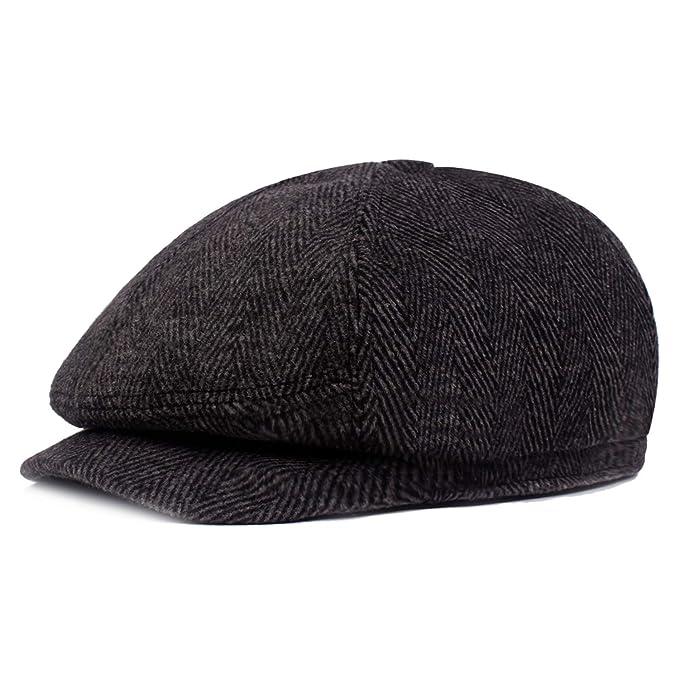 SALE Herringbone Peaky Blinder/'s Style Hat News Boy Baker Boy Gatsby Cap
