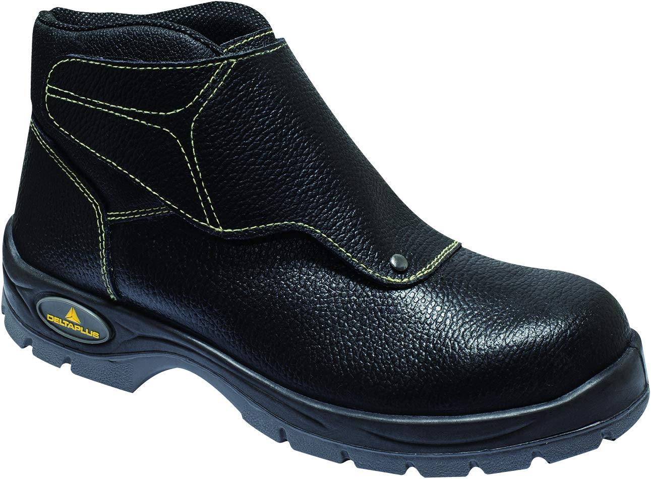 Delta Plus Panoply Cobra 3 S1P Mens Black Leather Welders Welding Safety Boots (US 10) by Delta (Image #1)