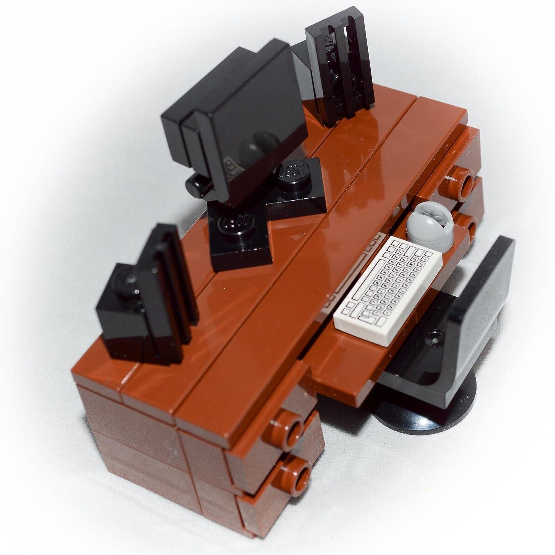 Amazon LEGO Furniture puter Desk Brown Desk Monitor
