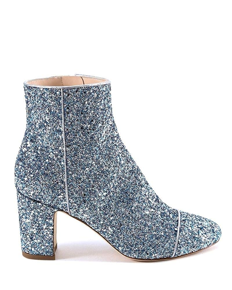 - POLLY PLUME Women's ALLYSPARKLINGBABYblueE Light bluee Glitter Ankle Boots