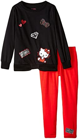 f4ded93f2ec9a Amazon.com: Hello Kitty Girls' Legging Set with 3D Appliques ...