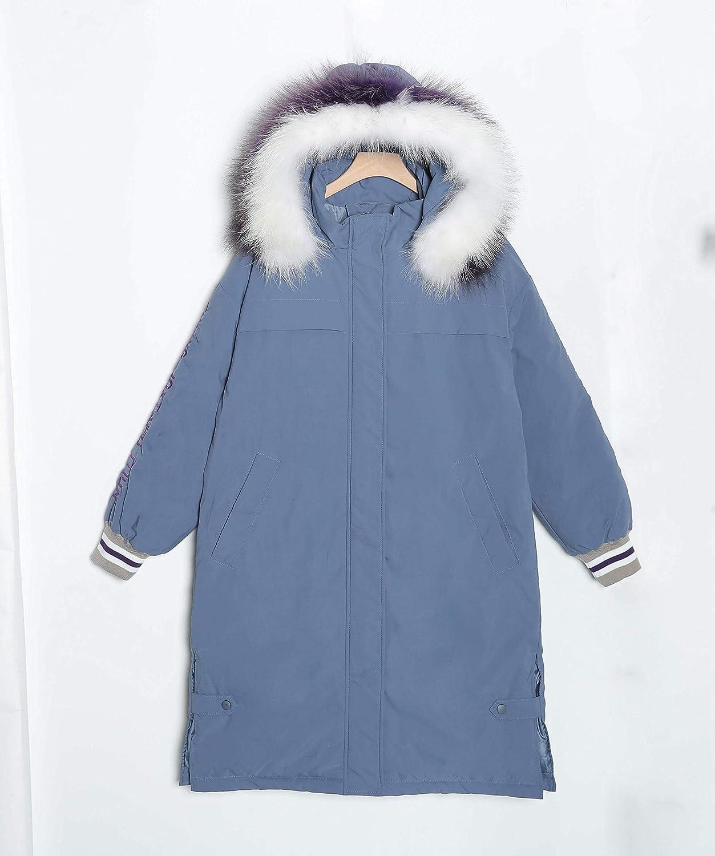 Lijincheng Down Jacket Col de fourrure Parka à capuche Mujer bas coton rembourré Veste longue Outwear Femmes Plus Size Lettre Broderie Manteau Casual Gray