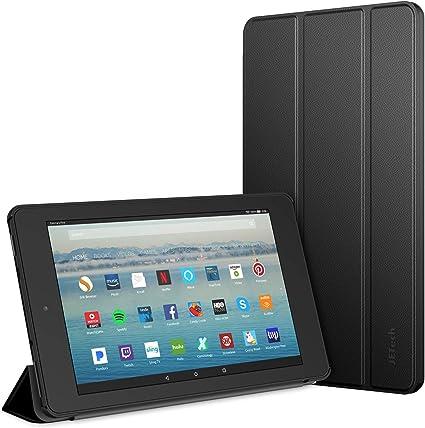 JETech Funda Compatible Amazon Fire 7 Tableta (9ª Generación, Lanzamiento de 2019 Sólo), Smart Cover con Auto-Sueño/Estela, Negro: Amazon.es: Electrónica