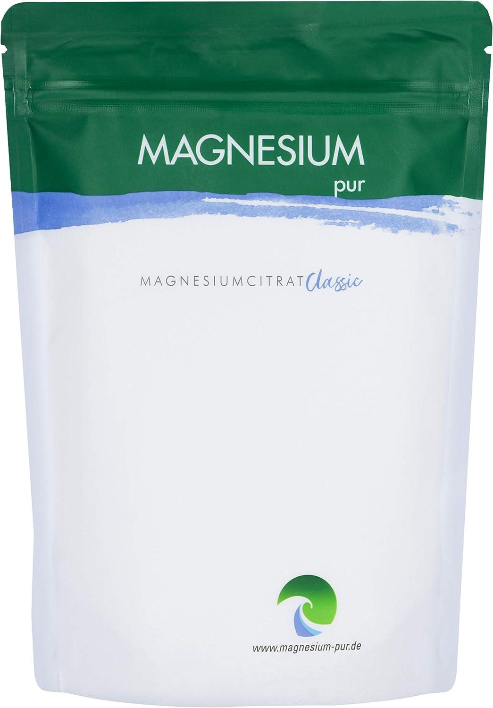 Magnesium-Pur Pulver 500g Nachfüllbeutel pures Magnesiumcitrat Pulver - Magnesiumcitrat