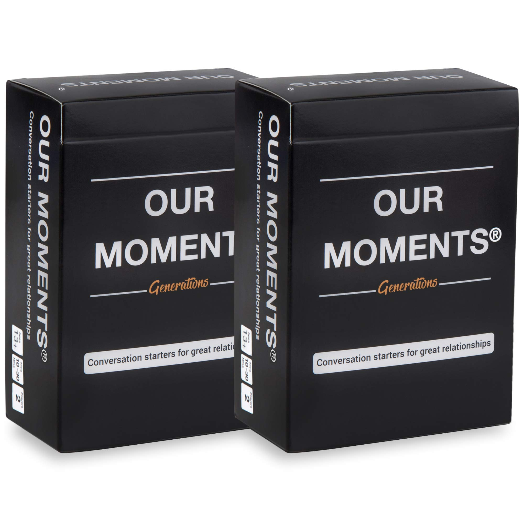 OUR MOMENTS Generations (Bundle of 2): 100 Thought Provoking Conversation Starter Questions. Grandchild to Grandparent - Fun and Meaningful Communication - Bridge The Age Gap to Strong Family Ties
