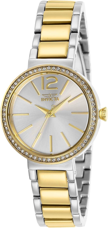 Invicta Women's 29273 Angel Quartz 3 Hand Silver Dial Watch