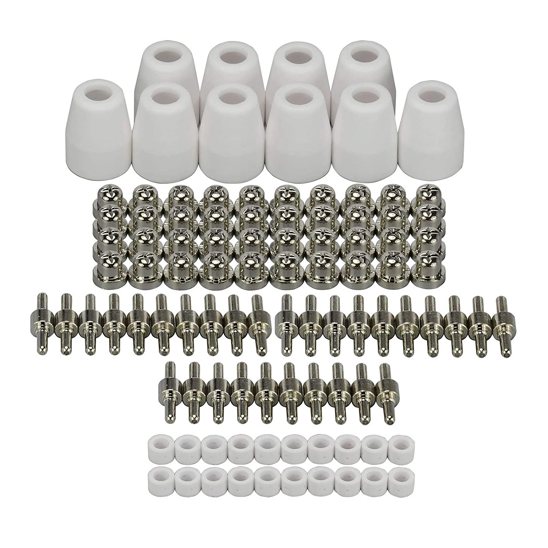 LG-40 PT-31 Plasma-Schneidbrenner Verbrauchbar Standard Vernickelt fü r CUT-40 30 Brennerhals, 100 Stü ck RIVERWELDstore
