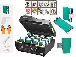 INTBUYING 3D Muti-fuction Intelligent Vacuum Sublimation Heat Press Machine Printer Black Color Three-Dimensional Printing Printer CE Certification