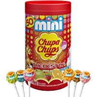 Chupa Chups Best of Mini Tube, 50 Small Lollipops