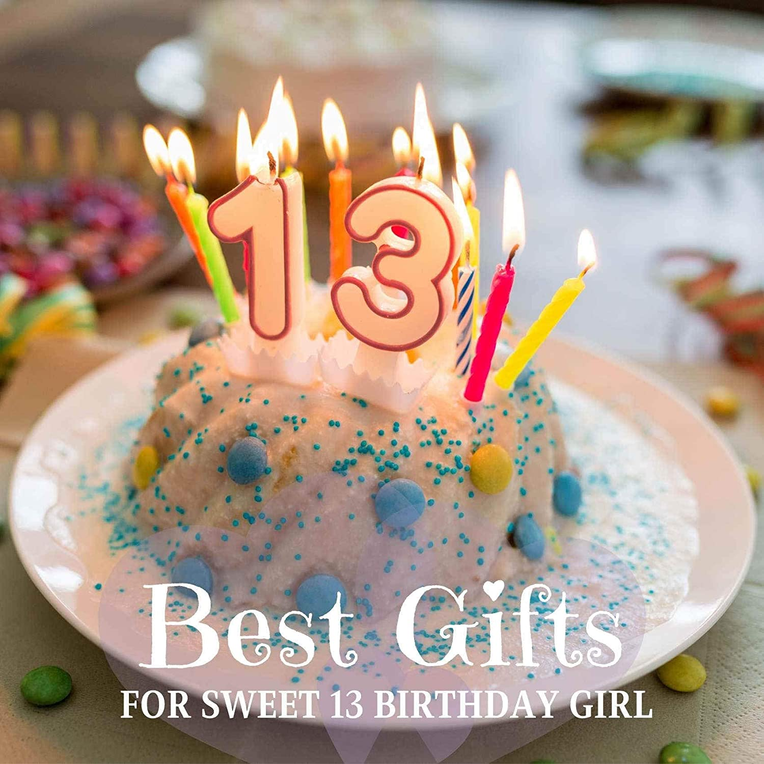 13th Birthday Decorations /& Party Supplies for 13 Years Old Girl /& Her Teen Gifts Violet-Blue Gradient Glitter 13th Birthday Girl Gifts 17oz//500ml Stainless Steel Insulated Water Bottle Teenager Gifts Perfect for Birthday Back to School