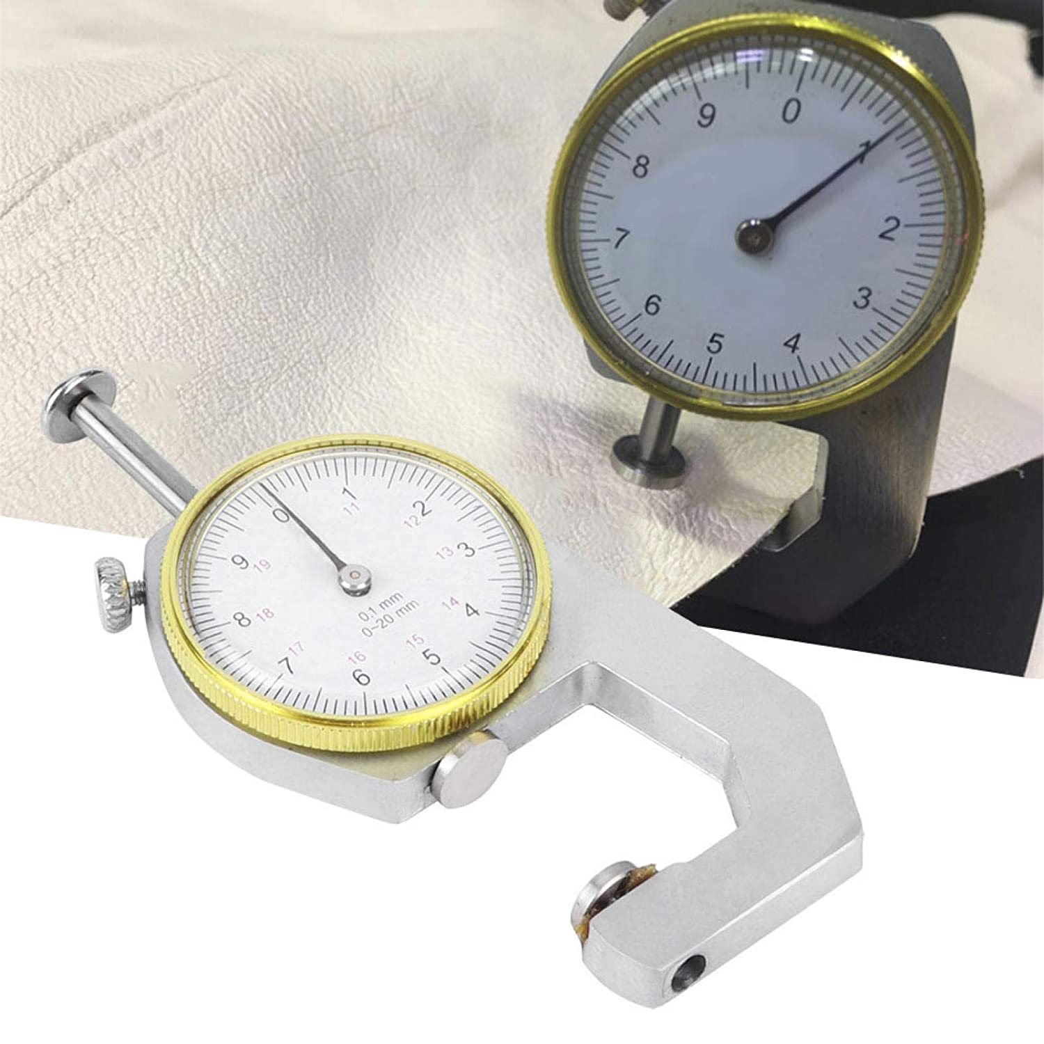 Thickness Silver Thickness Gauge Round Dial Indicator Portable ...