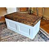 Mountain Creek Woodworks Carnegie Chest   Rustic White Georgia Pine Storage/Toy/Hope  Chest