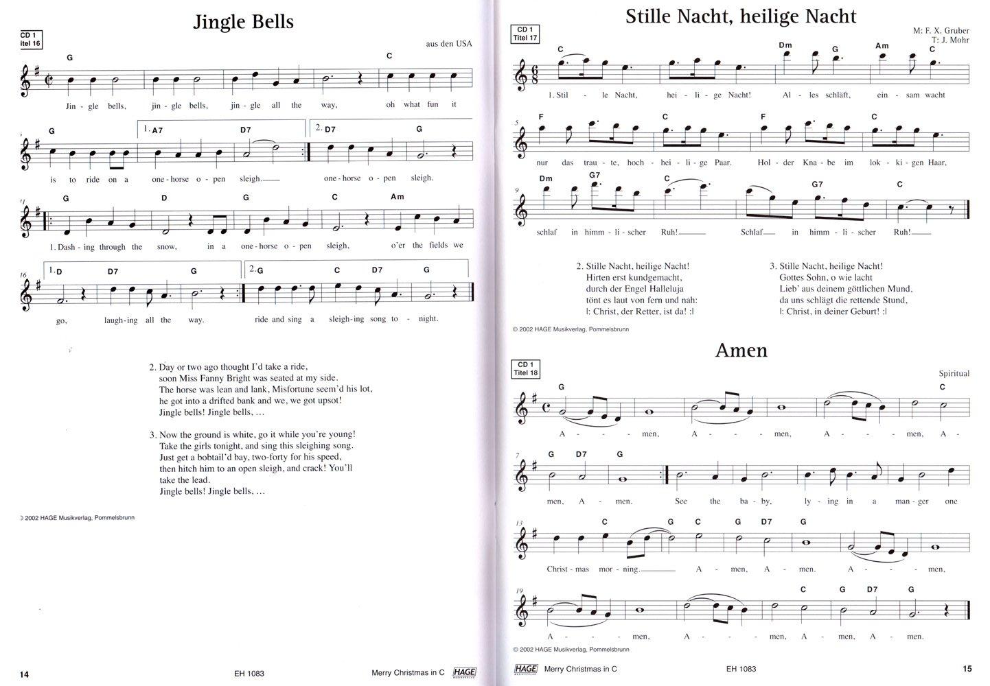 Merry Christmas für C-Instrumente (Querflöte, Oboe) - 45 ...